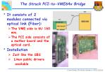 the struck pci to vme64x bridge