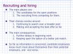 recruiting and hiring