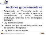 acciones gubernamentales