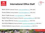 international office staff