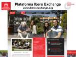 plataforma ibero exchange www ibero exchange org