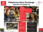plataforma ibero exchange www ibero exchange org1