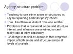 agency structure problem