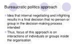 bureaucratic politics approach
