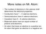 more notes on mr atom