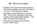 mr ohm is so cool