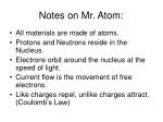 notes on mr atom