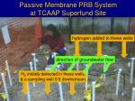 passive membrane prb system at tcaap superfund site