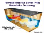 permeable reactive barrier prb remediation technology