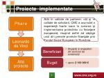 proiecte implementate