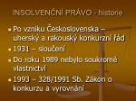 insolven n pr vo historie