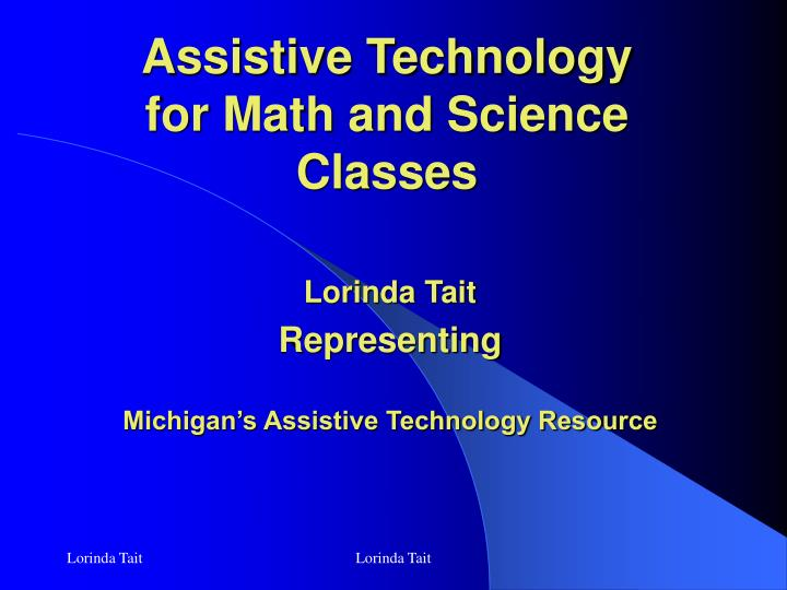 assistive technology for math and science classes n.