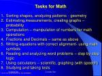 tasks for math