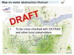 map on water abstraction kenya