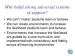 why build strong universal systems of support