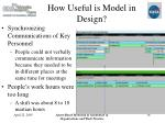 how useful is model in design