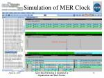 simulation of mer clock