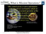 what is mission operations