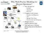 why work practice modeling for mission operations