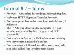 tutorial 2 terms