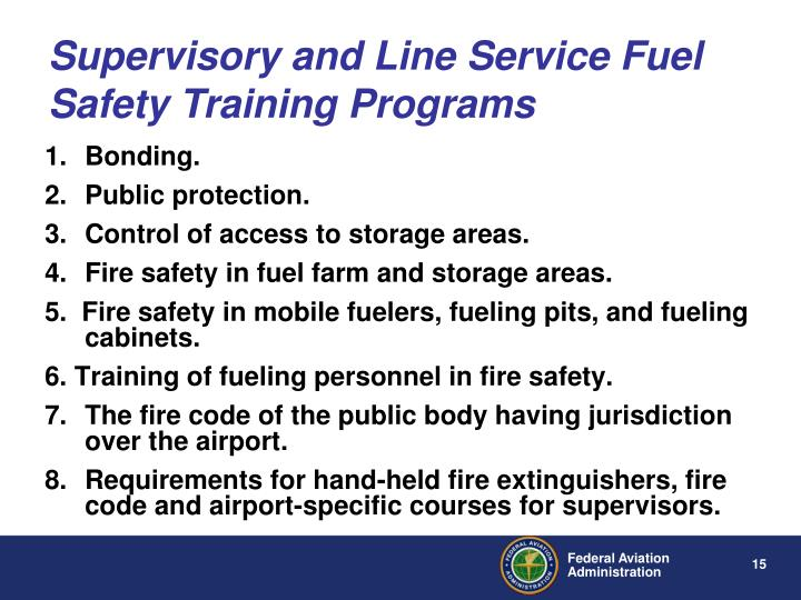Supervisory and Line Service Fuel Safety Training Programs