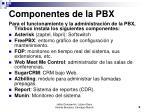 componentes de la pbx