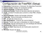 configuraci n de freepbx setup