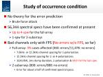 study of occurrence condition
