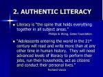 2 authentic literacy