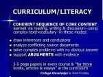 curriculum literacy