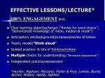 effective lessons lecture