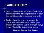 faux literacy