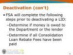 deactivation con t1