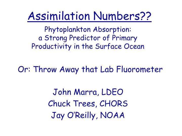 assimilation numbers n.
