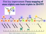 first key improvement fuzzy mapping of atom triplets onto basis triplets in 2d fpt
