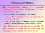 pharmacophore patterns