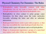 physical chemistry for dummies the rules