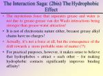 the interaction saga 2bis the hydrophobic effect