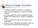 inferior russian economy