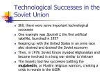 technological successes in the soviet union
