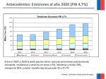 antecedentes emisiones al a o 2020 pib 4 7