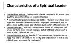 characteristics of a spiritual leader3