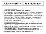 characteristics of a spiritual leader4