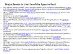 major events in the life of the apostle paul1