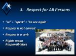 respect for all persons