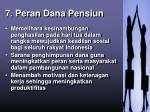 7 peran dana pensiun