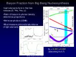 baryon fraction from big bang nucleosynthesis