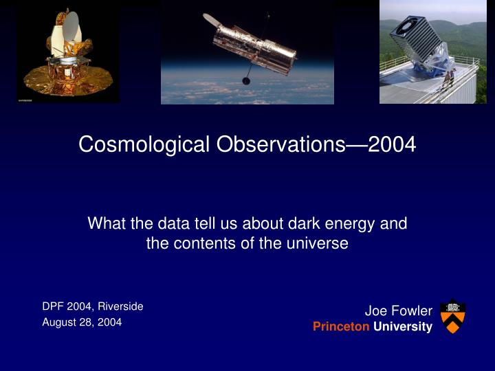 cosmological observations 2004 n.