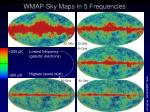 wmap sky maps in 5 frequencies