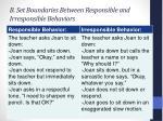 b set b oundaries between responsible and irresponsible behaviors
